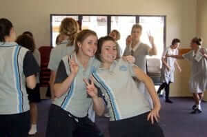 girls dancing at Donna's original girls programs at siena catholic college by Donna Power of Experience Wellbeing