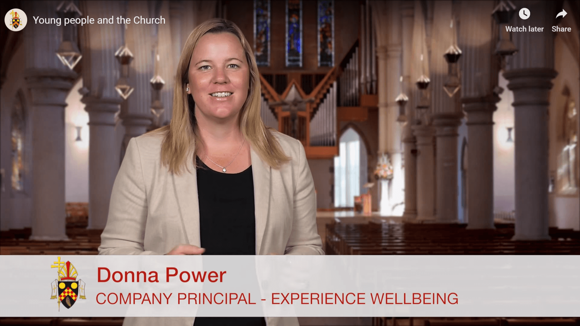 Donna Power from Experience Wellbeing Catholic school retreat facilitator in Brisbane Archdiocese video on young people and the church by Brisbane Catholic Archdiocese
