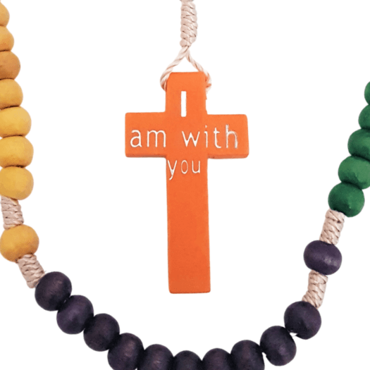 rosary beads designed in australia by Donna Power of experience wellbeing childrens rosary beads wooden twine non toxic small gift first holy communion confirmation graduation retreat gift catholic holy rosary pray the hail mary with these beads catholic faith formation