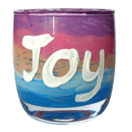 staff retreat activity materials glass candle holder paint paint brushes splash mat glass cup to paint noble value on by Donna Power from Experience Wellbeing faith formation online resources
